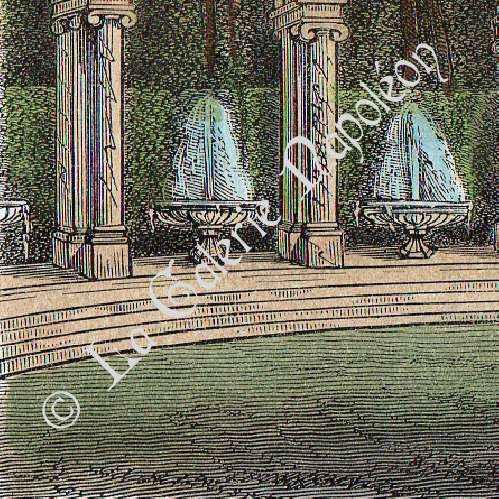 gravures anciennes ch teau de versailles jardin la colonnade gravure en taille douce 1850. Black Bedroom Furniture Sets. Home Design Ideas