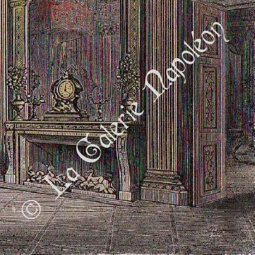 gravures anciennes ch teau de versailles chambre de louis xiv gravure en taille douce 1850. Black Bedroom Furniture Sets. Home Design Ideas