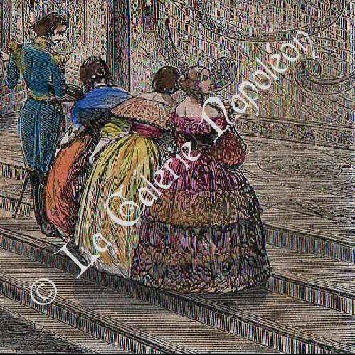 gravures anciennes ch teau de versailles escalier de la reine gravure en taille douce 1850. Black Bedroom Furniture Sets. Home Design Ideas