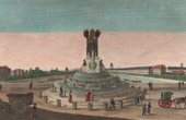 View of Paris - Fountain of Elephant - Bastille - Project of Napoleon
