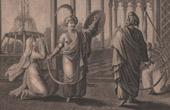 Die Truppen von Malek-Adhel, Bruder von Saladin, Verlangen den Kopf von Matilda, Schwester von Richard L�wenherz - Richard I