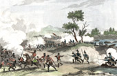 Napoleonic Wars - Diershein - Crossing of the Rhine in Neuwied - The Battle of Neuwied - Hussars - French Cavalry under Marshal Ney against the Austrians (1797)
