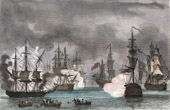 Naval Battle - �les d'Hy�res - French Revolutionary Wars - The French Fleet in Hy�res - 1795