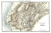 Antique map - Napoleonic Wars - The Battle of Rivoli (1797)