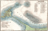 Antique map - Battle of Aboukir Bay - Battle of the Nile - Egypt (1798)