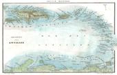 Alte Plan von Antillen