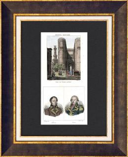 Ansicht von Kairo - Bab al-Nasr (�gypten) - Portr�ts - Augustin-Daniel Belliard (1769-1832) - Jacques de Menou de Boussay (1750-1810)