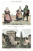 Breton Costume - French Fashion - Brittany - Plougastel (Finistère - France) - Castle of Clisson - If des Victimes