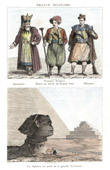 Turkish Costume - Turkish Fashion - Uniform - Ancient Egypt - Great Sphinx of Giza - Pyramid of Cheops - Khafre's Pyramid