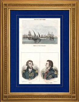 Ansicht von Alexandrien - Die Hafen (�gypten) - Portr�ts - Nelson (1758-1805) - Sidney Smith (1764-1840)