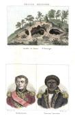 Ansicht von Banica abgrund - Santo Domingo - Portr�ts - Edme �tienne Borne Desfourneaux (1767-1849) - Toussaint Louverture (1743-1803)