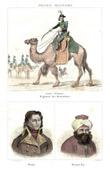 Stich von Ägyptische Expedition - Osmanisches Reich - Armée d'Orient - Mamluk - Dromedar - Porträts - General Desaix (1768-1800) - Mourad Bey (1750-1801)