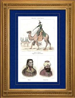 Ägyptische Expedition - Osmanisches Reich - Armée d'Orient - Mamluk - Dromedar - Porträts - General Desaix (1768-1800) - Mourad Bey (1750-1801)