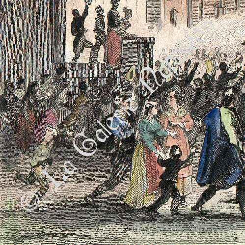 Stampe antiche rivoluzione francese guerre for Stampe di campagna francese