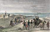 Stich von Ägyptische Expedition - Pyramide - Rückker aus Syrien (1799)