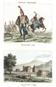 Napoleonic Soldier - Uniform - Hussard - Cavalry (1798) - View of Castel Nuovo - Naples (Italy)