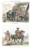 Sc�ne de la Vie Militaire - Ambulance - Champ de Bataille - Bless� - Costume Autrichien - Uniforme militaire - Officier - Cavalerie