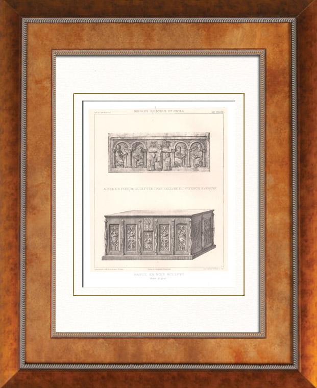 Stampe antiche mobili antichi arte italiano altare - Mobili antichi verona ...