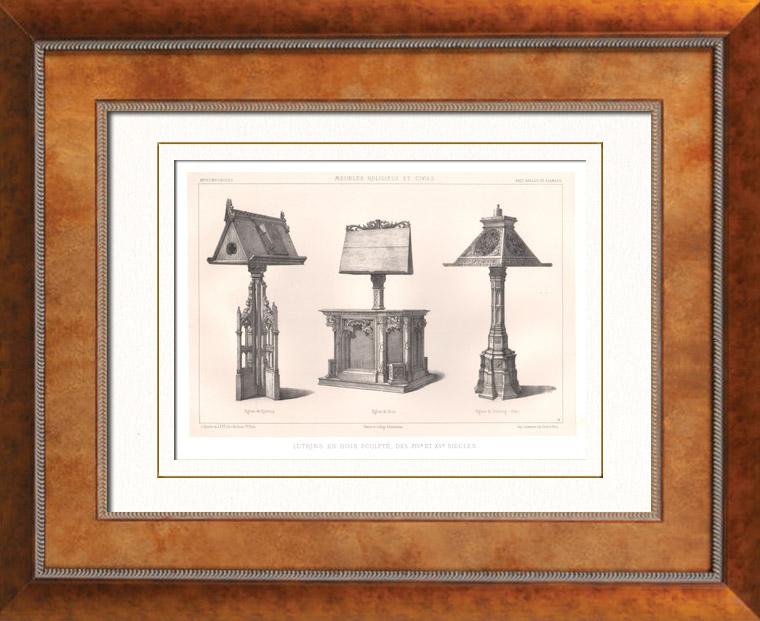 Gravures anciennes lithographie de meubles anciens art religieux art an - Meubles anglais paris ...
