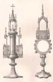 Altsachen - Liturgisches Ger�ten - Franz�sisch kunst - Monstranz aus Silber - XV. Jahrhundert (Frankreich)