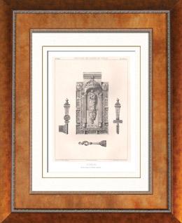 Altsachen - Religi�sekunst - Franz�sisch kunst - Schloss und Schl�ssel - XV. Jahrhundert (Frankreich)