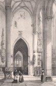 Lithographie von Altsachen - Liturgisches Geräten - Sakramentshaus - Dom - Kathedrale von Ulm - Deutsche Kunst - XV. Jahrhundert