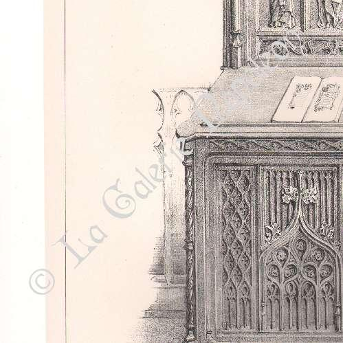 gravures anciennes meubles anciens art religieux art fran ais chaise prie dieu. Black Bedroom Furniture Sets. Home Design Ideas