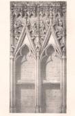 Lithographie von Liturgisches Möbel - Religiösekunst - Französisch kunst - Chor - Piscina - Basilika H. Urban - Troyes