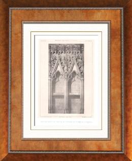 Liturgisches Möbel - Religiösekunst - Französisch kunst - Chor - Piscina - Basilika H. Urban - Troyes