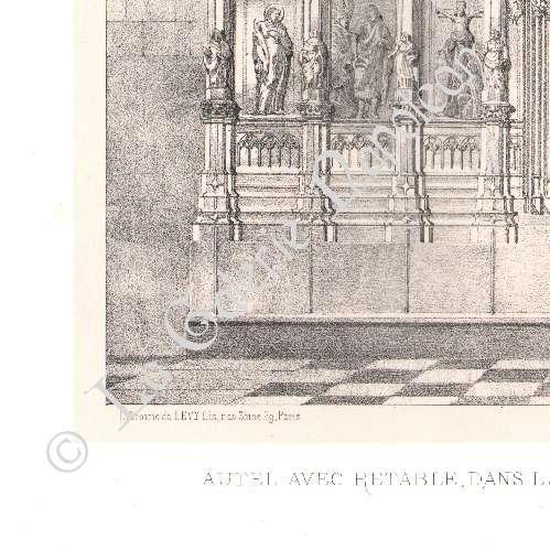 gravures anciennes meubles liturgiques art religieux art espagnol autel r table. Black Bedroom Furniture Sets. Home Design Ideas