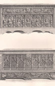 Antique Furniture - French art - Carved wood coffer