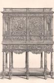 Antique Furniture - French art - Carved Wood Cabinet