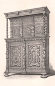 Antique Furniture -  Art Hollandais - Cupboard - Carved Wood