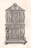 Antique Furniture - French art - Carved wood Cupboard