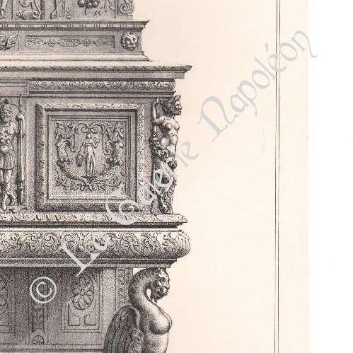 Gravures anciennes meubles anciens art fran ais for Meuble credence ancienne