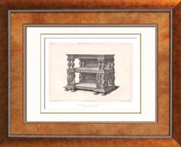 Alti M�bel - Britischer kunst - Anrichte - Dressoir - Skulptiertes Holz