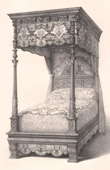 Antique Furniture - French art - Bed - Canopy bed