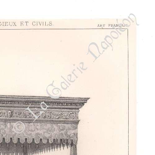 alte stiche lithographie von alti m bel franz sisch. Black Bedroom Furniture Sets. Home Design Ideas