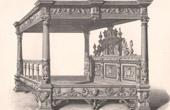 Alti M�bel - Deutsche Kunst - Bett - Baldachin - Kolonnaden - Verzierung - Hans Vredeman de Vriese