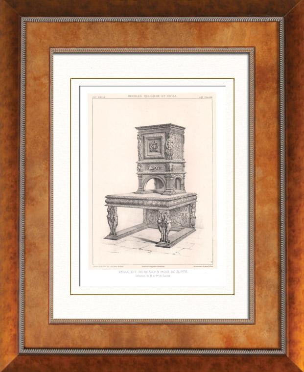 gravures anciennes gravures de meuble ancien. Black Bedroom Furniture Sets. Home Design Ideas