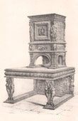 Alti M�bel - Italienische kunst - Tafel - Sekret�r - Skulptiertes Holz