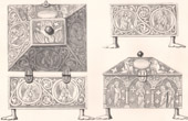 Lithographie von Möbel religiösen - Byzantinische Schrein