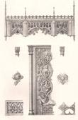 Lithographie von Liturgisches Möbel - Deutsche Kunst- Chorgestühl - Kirche von Ratzburg