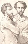 Selbstportr�t von Rudolf Lehmann (1819-1905) und Henri Lehmann (1814-1882)