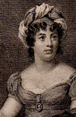 Portrait of Madame de Staël (1766-1817) - Author - Essayist - Salon - Gathering