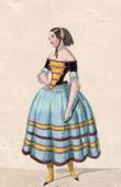 Franz�sische Theaterkleidung - Melle Nathalie - Maria - Les Jolies Filles de Spielberg