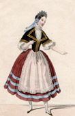 Theater Clothing - French Stage Costume - Mme Roland - Bertha - Giselle