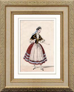 Franz�sische Theaterkleidung - Mme Roland - Bertha - Giselle