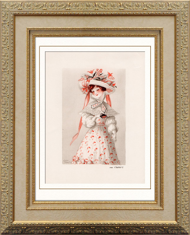 Antique Prints & Drawings | Fashion Print - Romanticism - Charles X of France | Heliogravure | 1937