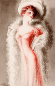 Fashion Print - Romanticism - 1900